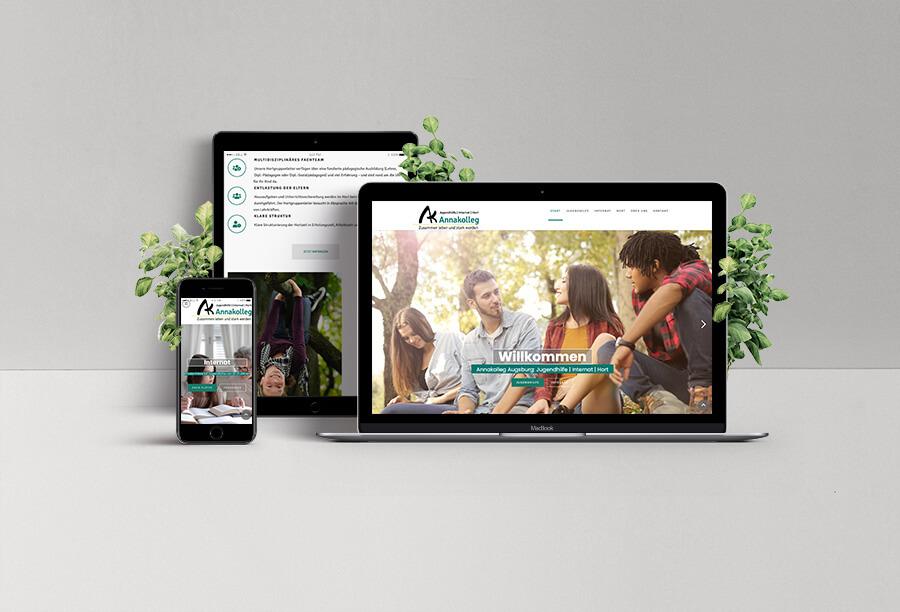Webseite Annakolleg| Referenz Agentur Charismarcom