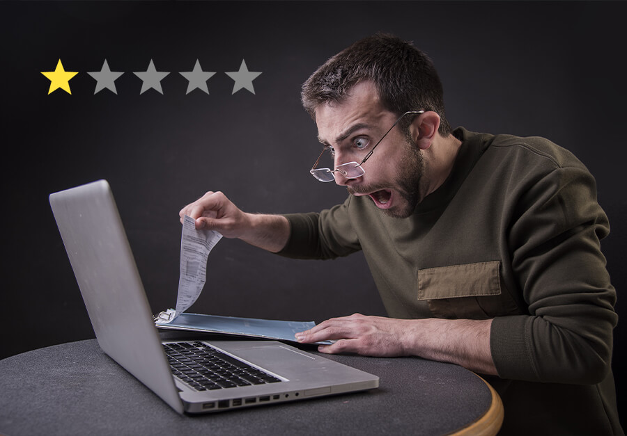 Google Rezension löschen: 1-Stern-Bewertung