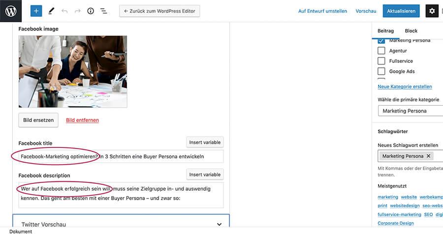 SEO-Optimierung: Social Media Darstellung